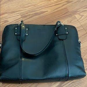 Kate spade black leather laptop bag